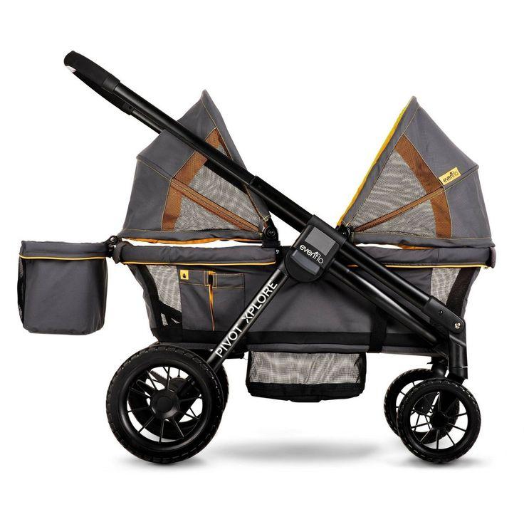 Evenflo Pivot Xplore AllTerrain Double Stroller Wagon