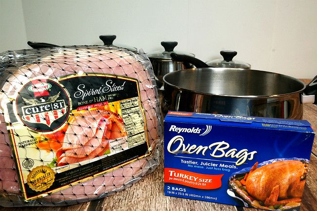 I like to start with high-quality meat, so very little is required of me to prepare it, perfectly. My choice for country hams is Hormel Cure 81. With a quality ham and a Reynolds oven bag, the only thing you need to insure delicious success is a quality roasting pan. My fove-quart Dutch Oven from the Farberware Stainless Steel New Traditions line was perfect!