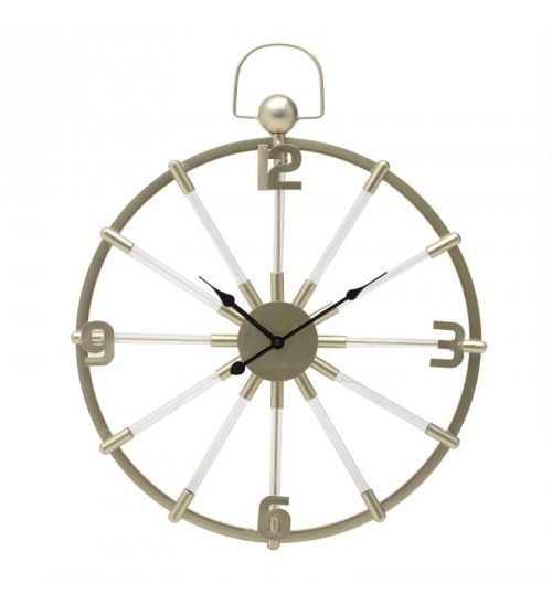 METALLIC WALL CLOCK IN GOLDEN COLOR 52X4X64