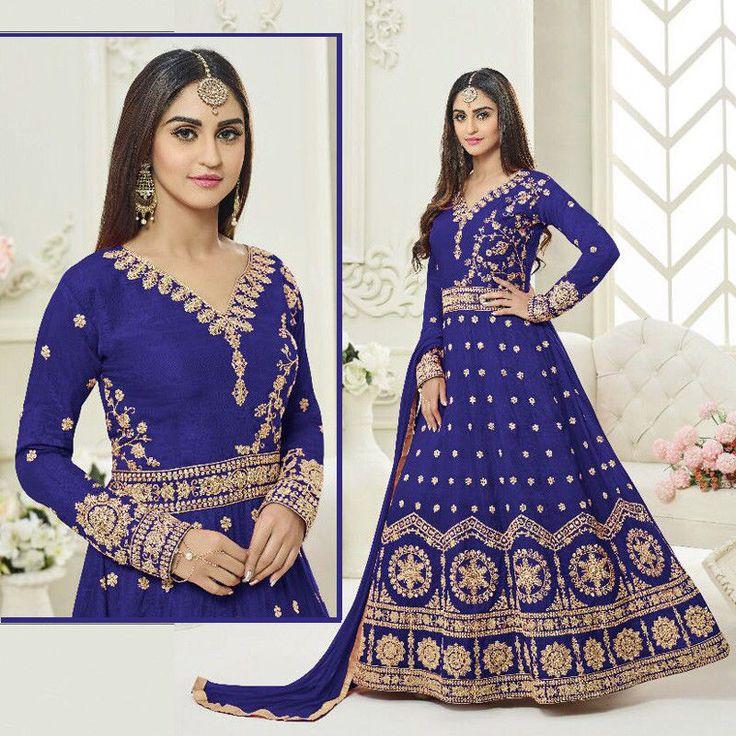 indian bollywood ethnic party wear salwar kameez wedding anarkali dress fabric #Indian #SalwarKameez