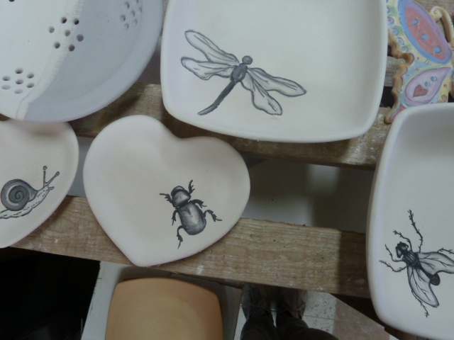 A cena con gli insetti, servizio di piatti da 2, a breve su http://www.etsy.com/shop/LabLiu