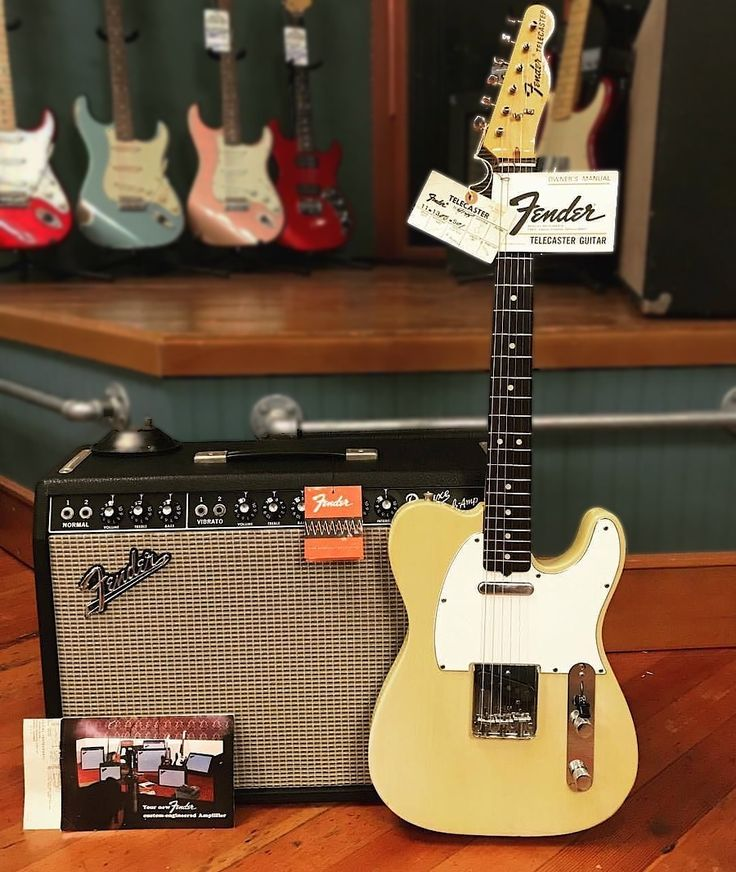 1967 Fender Deluxe Reverb and 1974 Telecaster in blonde