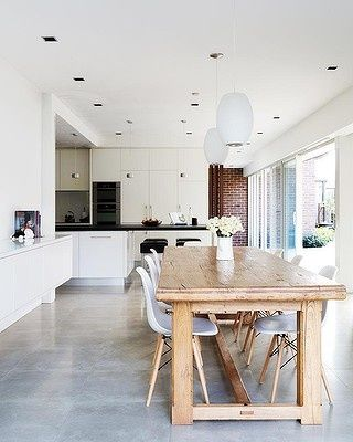 Polished Concrete Floor Kitchen. Fine Floor Lt Grey Cement Floor Only With  Radiant Heating Concrete