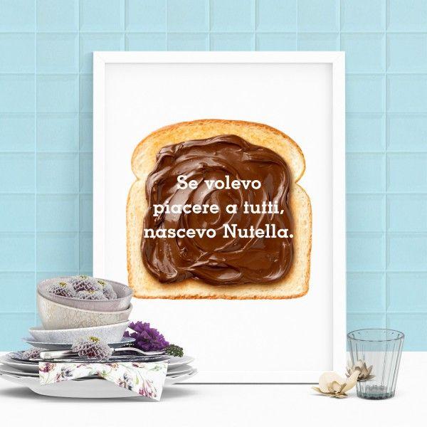 Anche le pareti della cucina si possono arredare con ironia!