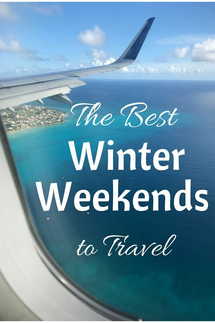 Wondering which weekends are best for Winter Travel? Check out this post to make sure you're avoiding peak travel weekends!