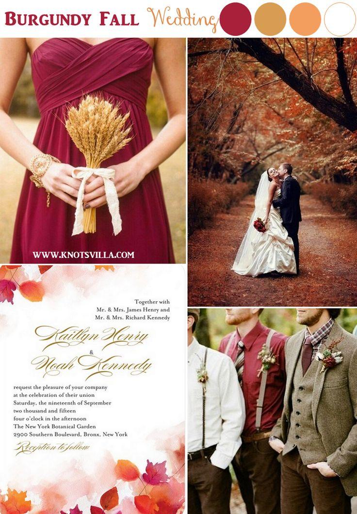 Burgundy Fall Wedding Inspiration » KnotsVilla