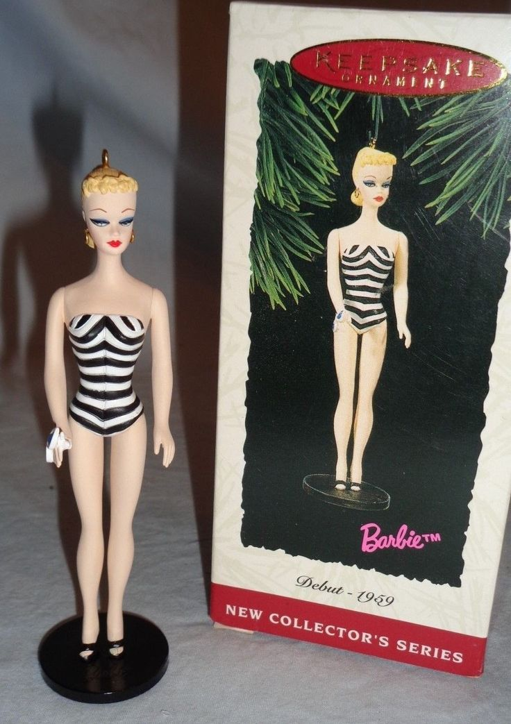 Hallmark Keepsake Barbie Debut 1959 new Collector's Series QX500-6 1994 No 1
