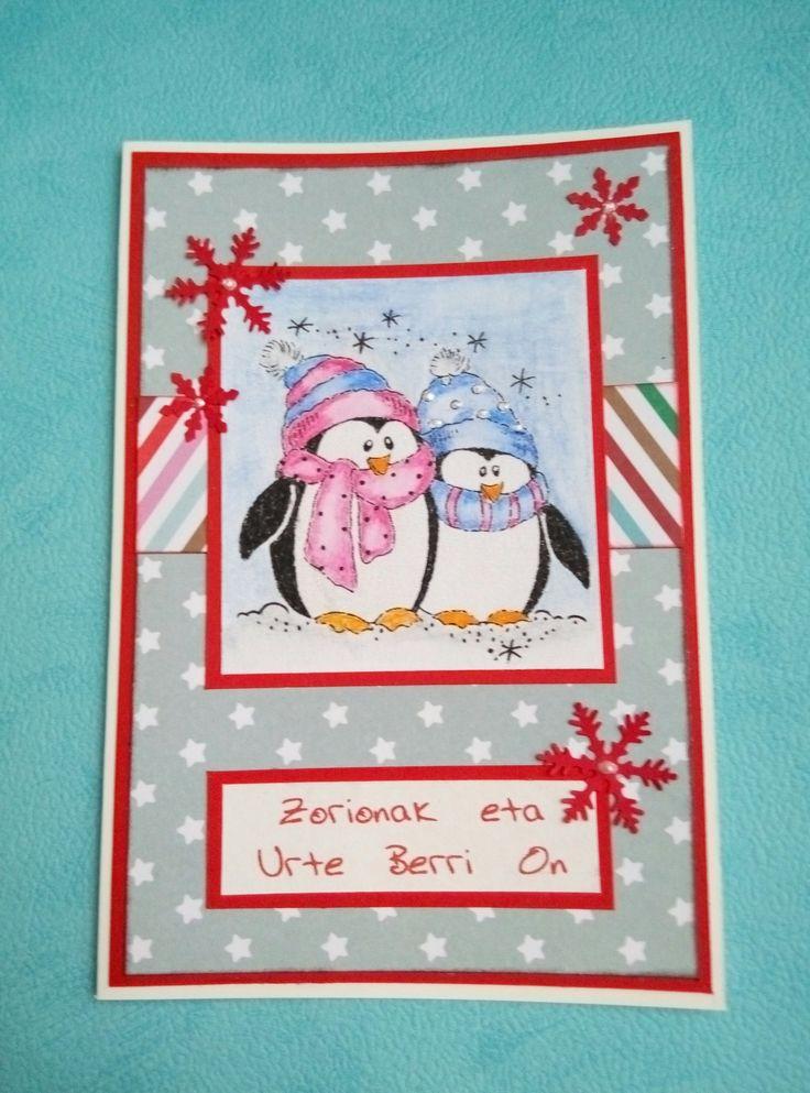 Tarjeta Pingüinos