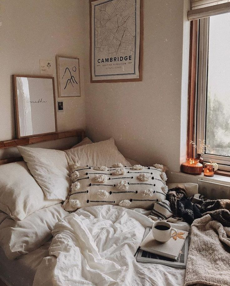 Warm And Cozy Corner Of Bedroom With Candle Lit Love Room Inspiration Home Decor Bedroom Design