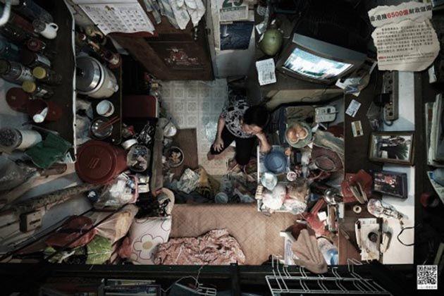 Impactantes imágenes sobre cómo vive gran parte de la población en Hong Kong...