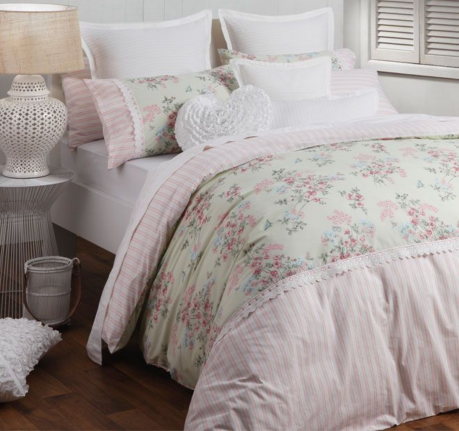 Logan and Mason Standard Amelia Quilt Cover Set Range Pink with Bonus Aussie Flag 35x48cm Filled Cushion Available instore..