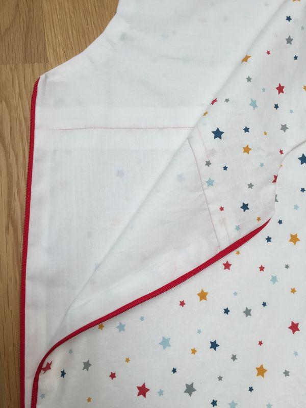 Gigoteuse sans couture apparente et zip intégré - Tuto gratuit