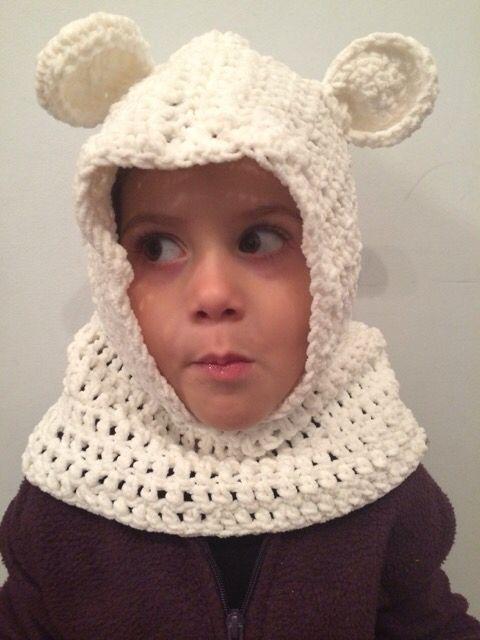 Crochet bufanda gorro con orejas