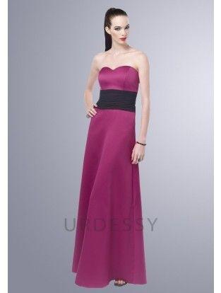 Hot Style Floor-Length Sweetheart Satin Fuchsia Bridesmaid Dresses Epsom and Ewell