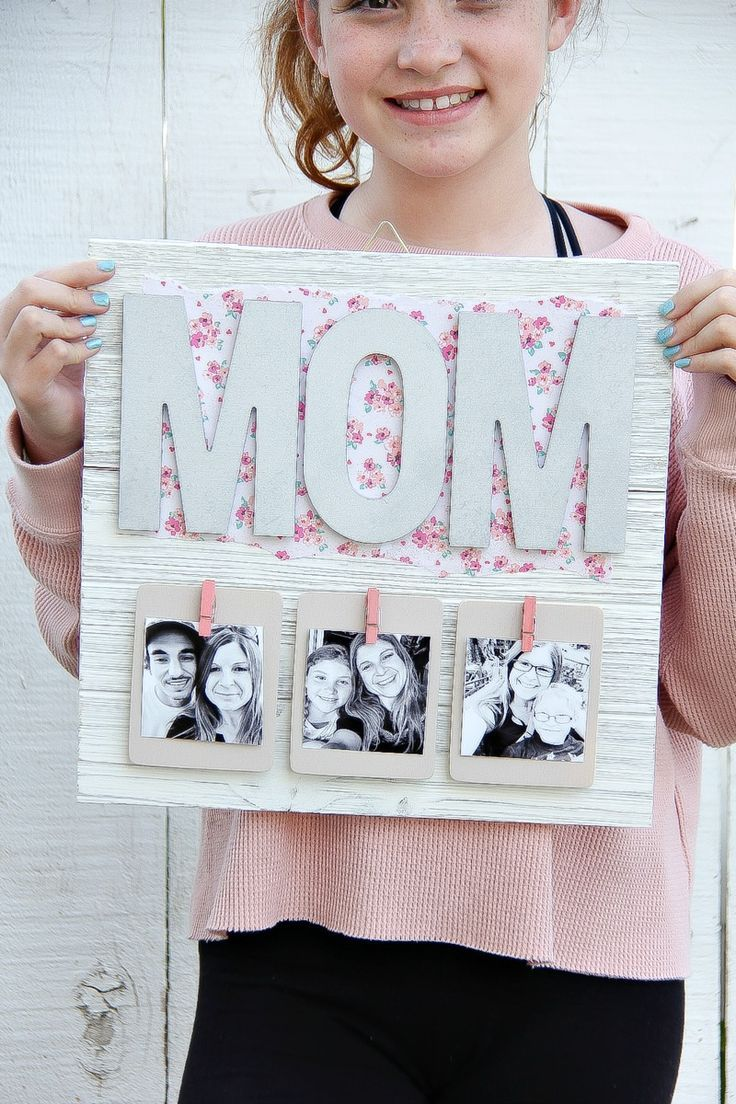 Creative Mother S Day Gift Diy Pallet Picture Frame With Images