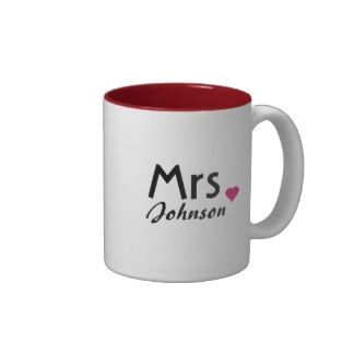 Customized Mrs mug - half of Mr and Mrs set