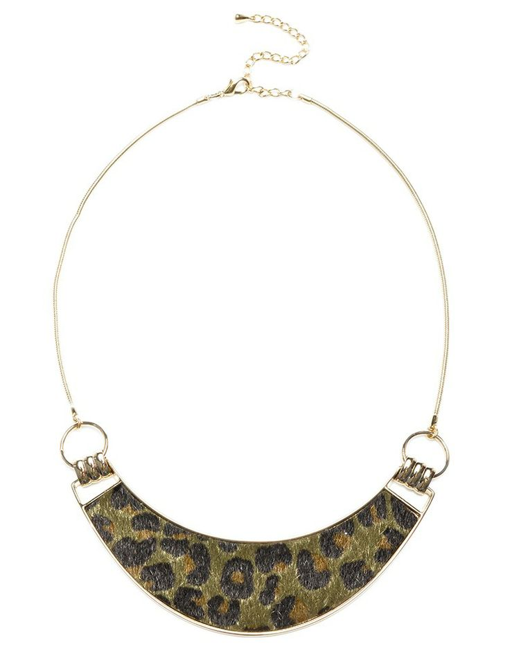 MAJIQUE | Animal Print Necklace in Green -  - Style36