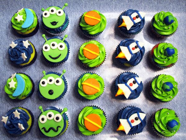 Outer Space Assorted Cupcakes