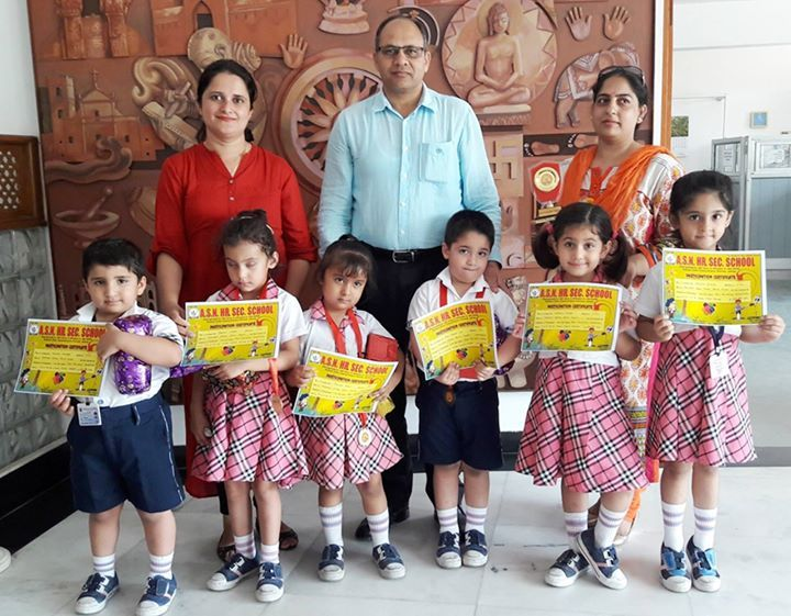 Gummy Bears World  students of #HeritageSchool Jammu won laurels for the school in Poem Recitation Competition