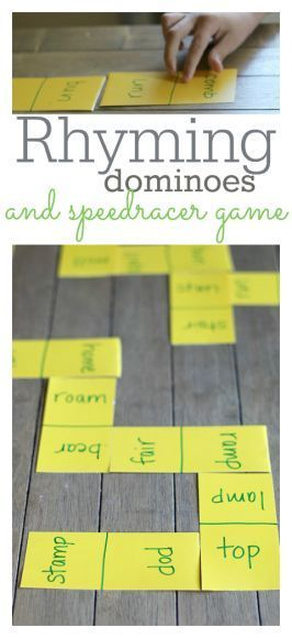Rhyming Dominoes and Speedracer Game – Learning After School