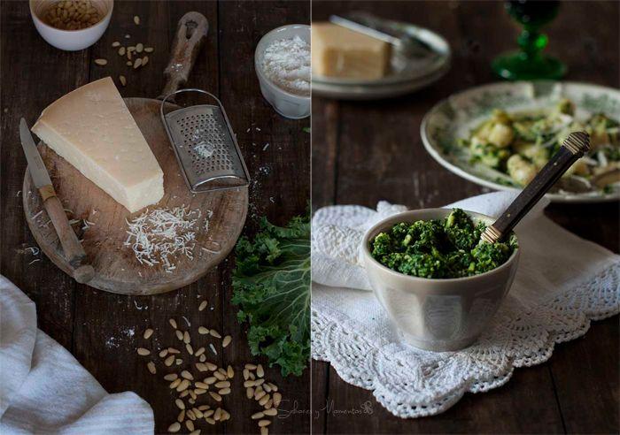 Sabores y Momentos | Gnocchis de patata con pesto de col rizada | Gnocchis with kale pesto www.saboresymomentos.es