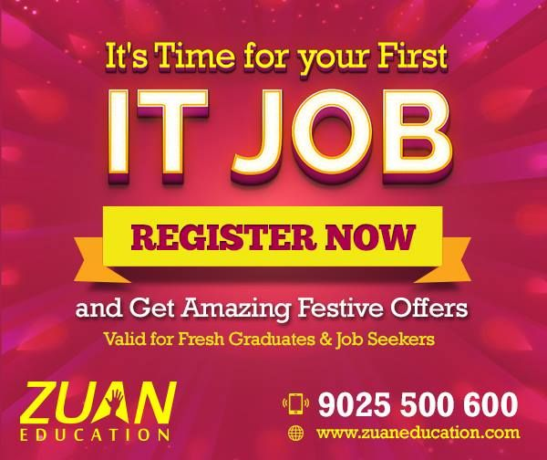 Dont' Wait till Holidays!!  Register now to get amazing festival offers at #ZuanEducation!
