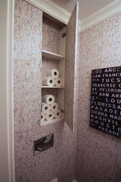 hidden shelves bathroom storage - Google Search