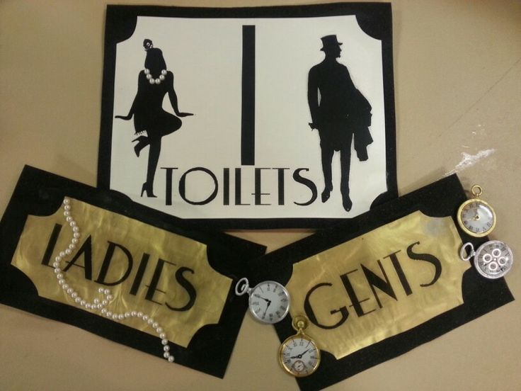 Handmade Vintage 1920 S Restroom Signs For Parties