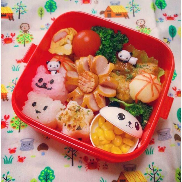 chanatotora本日のお昼はお弁当風。入れ方、色合い、難しすぎ!幼稚園はこの半分の量だけど試作(´・ω・`)むーりーかわいくなーい、納得いかないぜ  #お昼ご飯#おひるごはん#子供ごはん#おうちごはん#娘#お弁当#lunch#べんとう#試作#幼稚園#不安#4歳児#親ばか部
