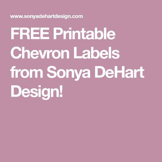 FREE Printable Chevron Labels from Sonya DeHart Design!