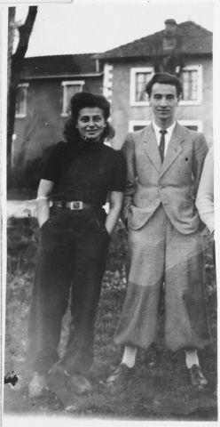 Sabine Einhorn and her fiance, Leon Roitman, both members of the Armée Juive resistance.