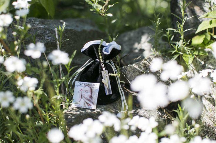 Our jewlry treasure pouches in our secret garden - Vinterhoff