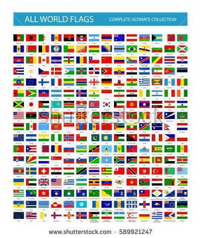 All Vector World Country Flags. All flags are organized by layers with each flag on a single layer properly named.