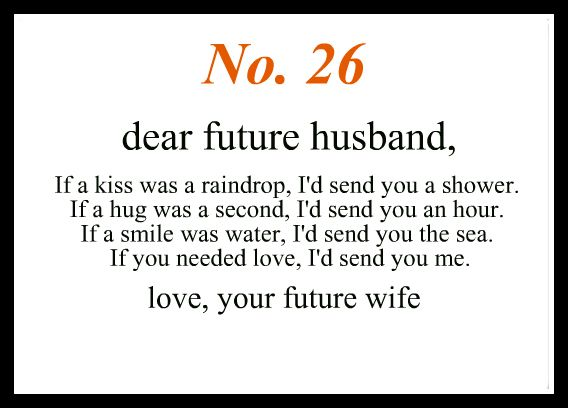 Love notes to my future husbant #26