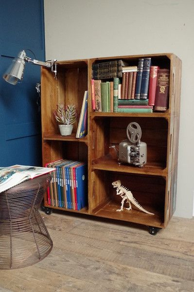 25 best ideas about crate bookshelf on pinterest. Black Bedroom Furniture Sets. Home Design Ideas
