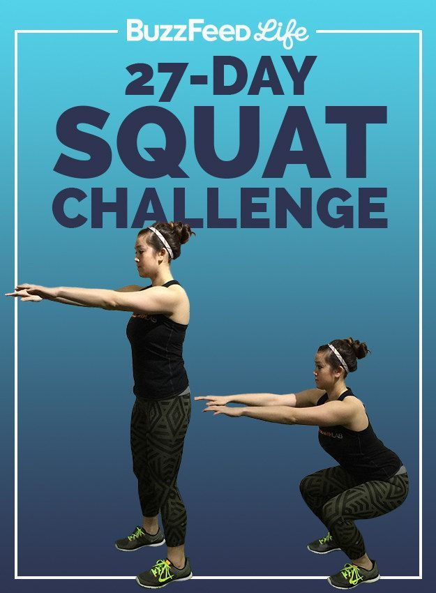 Take BuzzFeed's 27-Day Squat Challenge, Have The Best http://www.buzzfeed.com/sallytamarkin/take-buzzfeeds-squat-challengeSummer Of Your Life