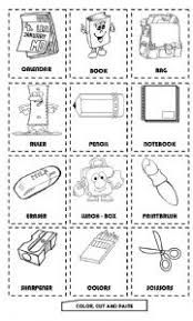 Image result for worksheet for grade 1 english my school