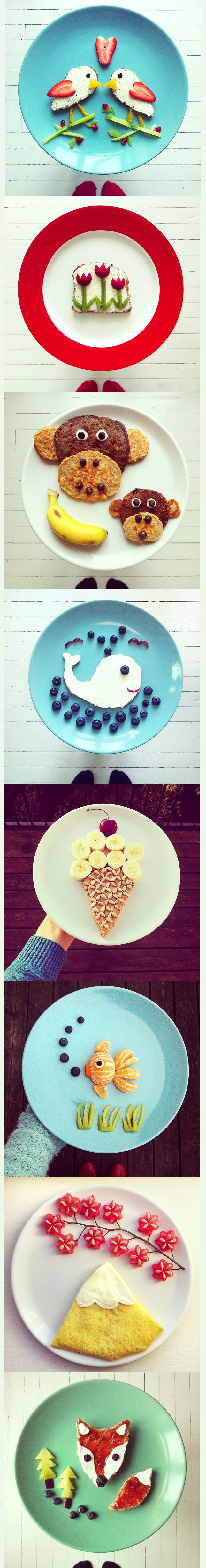 Cheerful Food Art | techlovedesign.com {perfect for kids to make them eat there food}