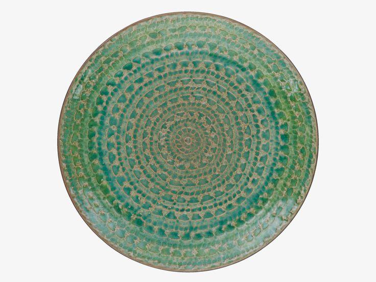SINTRA GREENS Stoneware Green side plate - Kitchen & Dining- HabitatUK