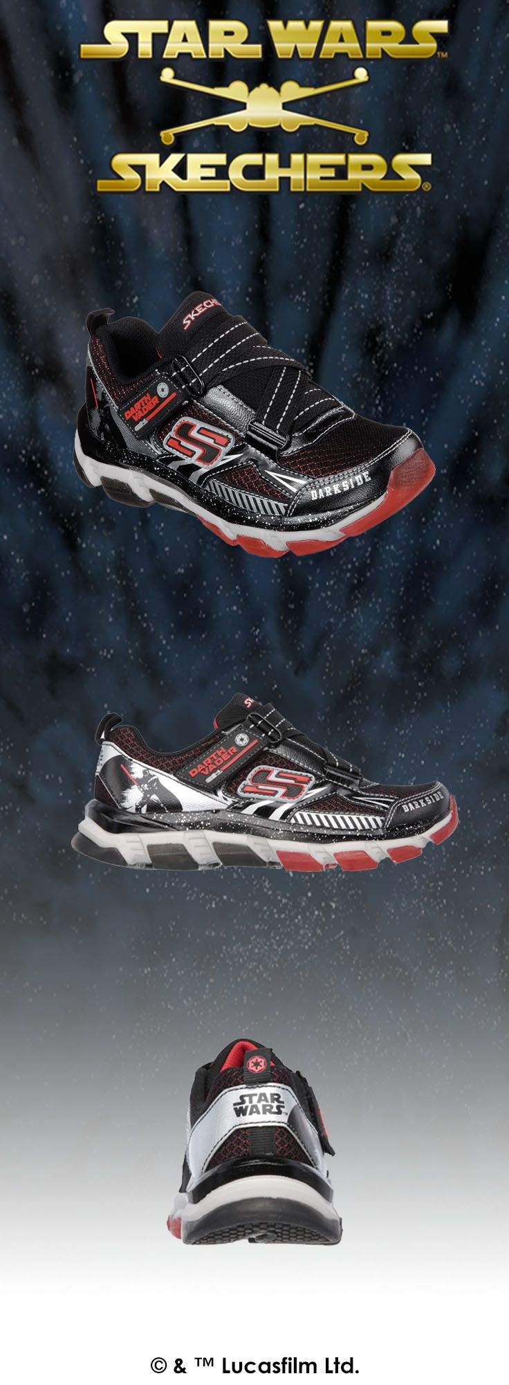 Star Wars™ Skechers helps you show allegiance to one of the coolest villains of all time—Darth Vader™!   http://spr.ly/6004BuHw6