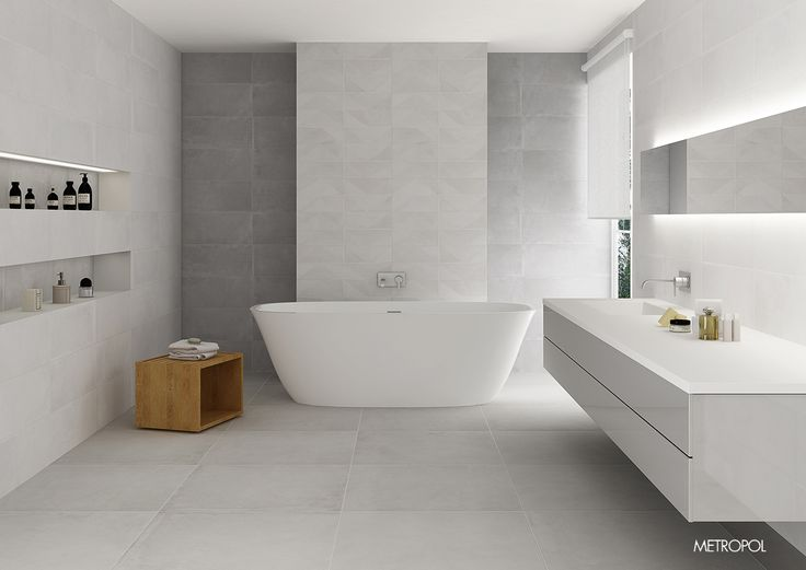 ceramique salledebain inspirationdeco design deco white totalblanc gris - Ceramic Carrelage