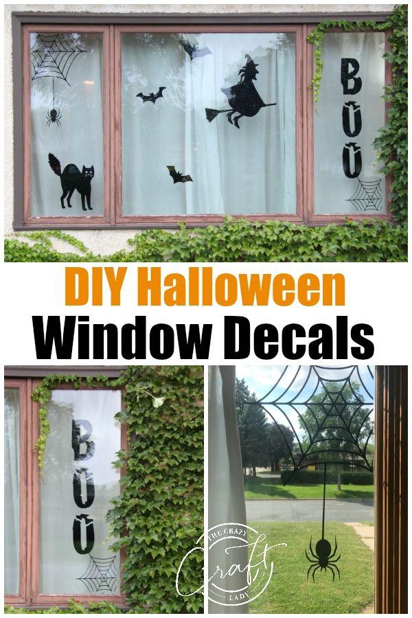 DIY Halloween Window Decorations - Make Custom Window Decals The - halloween decorations to make on your own