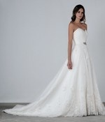 reminds me (a lot!!) of the Pronovias Bermeo gown. beautiful lines! designer: Henry Roth
