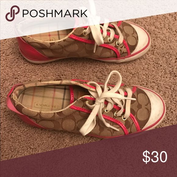 Brown and pink coach tennis shoes Coach tennis shoes Coach Shoes Sneakers
