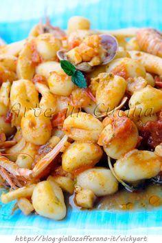 Gnocchi ai frutti di mare ricetta facile vickyart arte in cucina