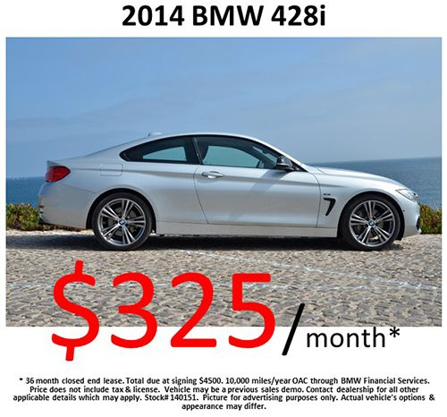 WEDNESDAY SPECIAL : 2014 #BMW 428i for $325/month! Call us today, 818-432-9000! Offer Expires: 6/30/2014 !
