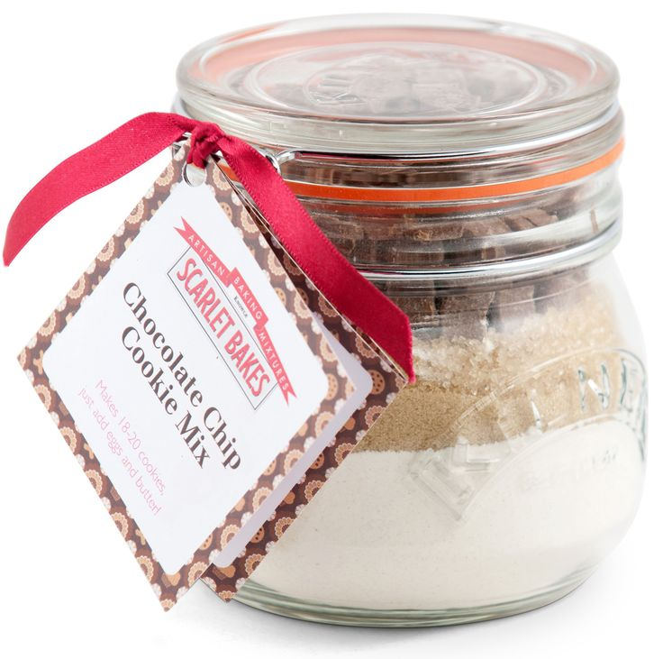 CHOCOLATE CHIP COOKIE MIX by Scarlet Bakes Straight from a handy jar, just add some butter and eggs!