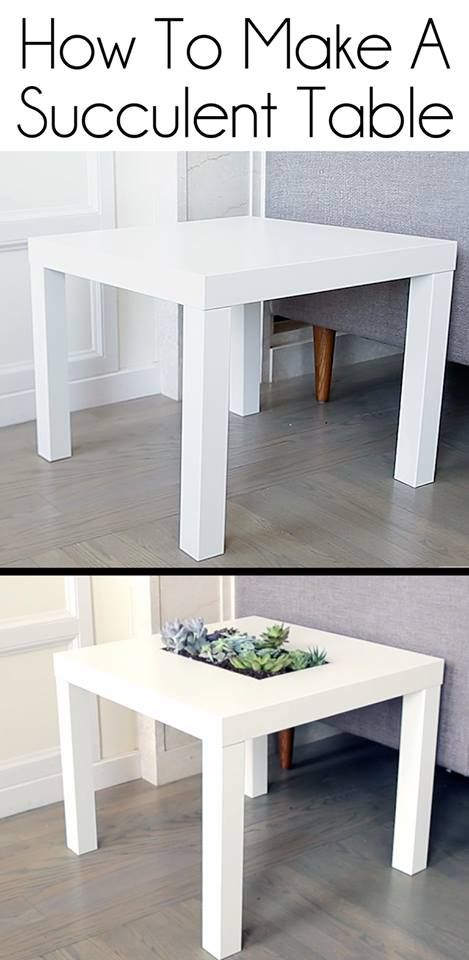 How to make a succulent table ikea NIFTY