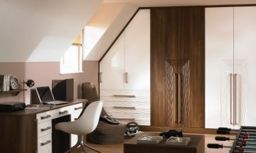 White and Wooden Gloss Bedroom Doors - By BA Components