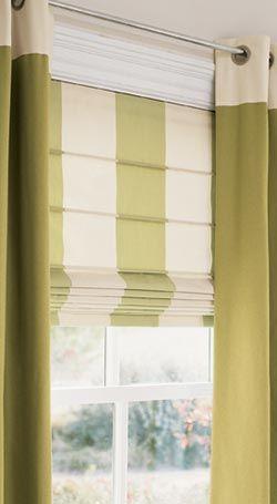 Energy Saving Roman Shades.. I love the simplicity of Roman Shades covering the windows.